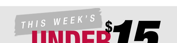 This week's Under $15 Challenge - Back to school new styles in stores now
