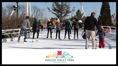VIP Ice Skating for 2 at Maggie Daley Park Ice Skating Ribbon