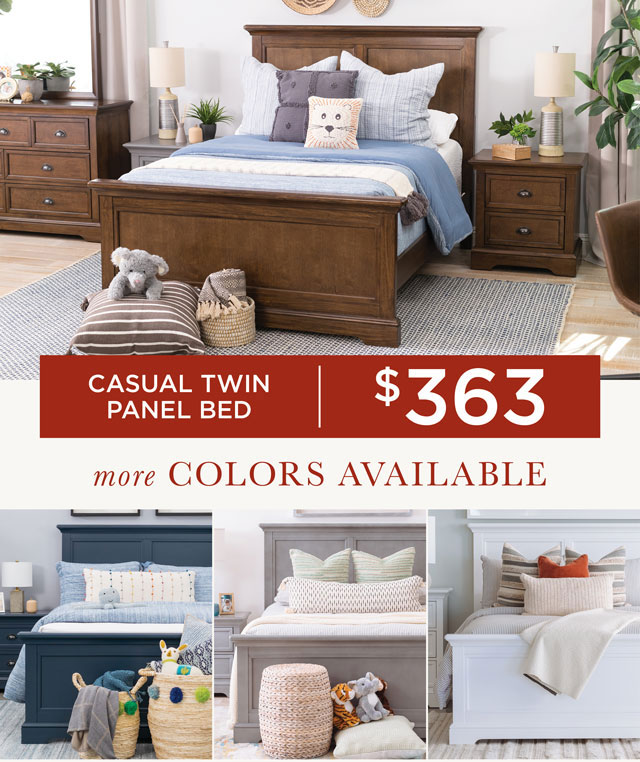 Casual Twin Panel Bed - $363