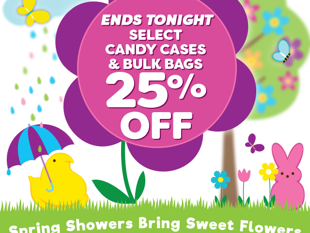 Select candy cases & bulk bags - 25% off