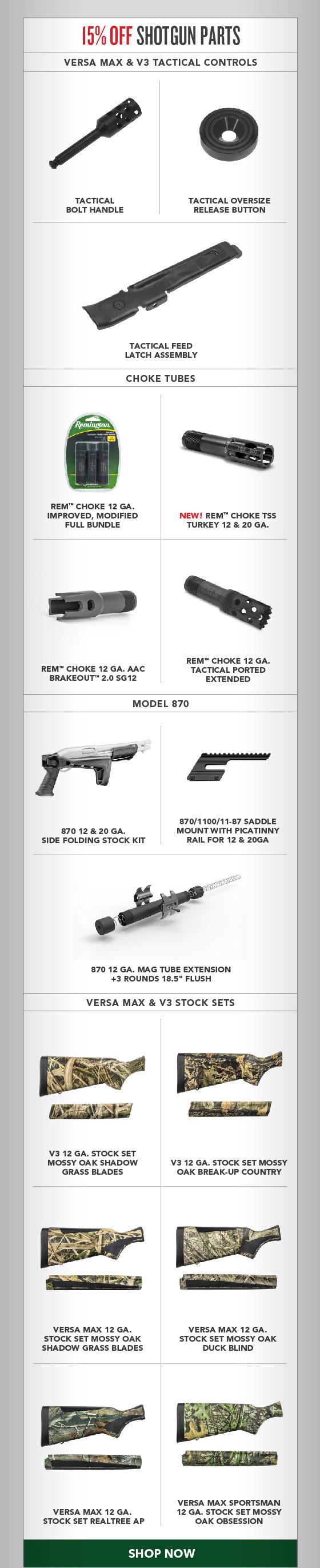 15% OFF Shotgun Parts