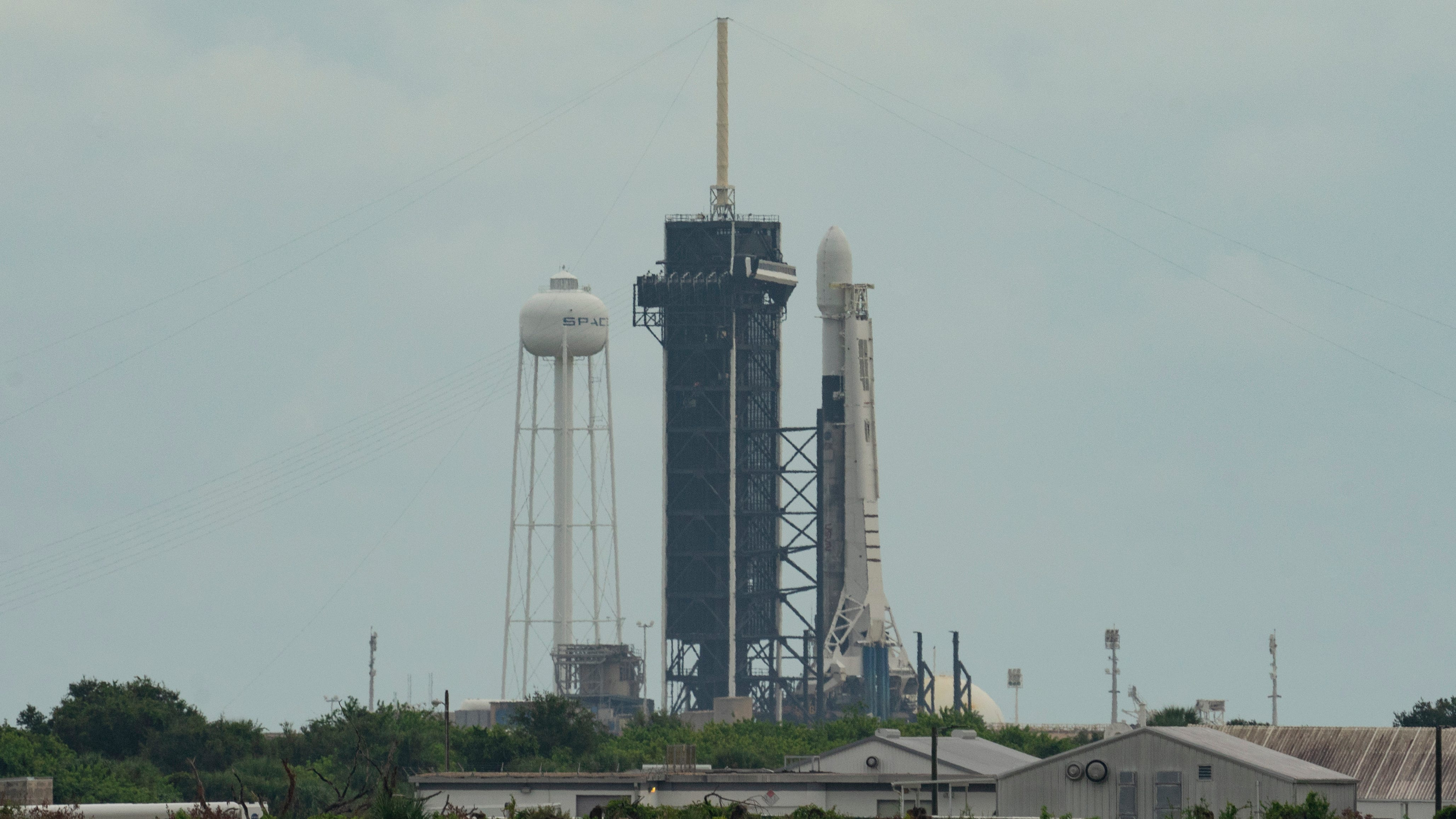 SpaceX's 13th Starlink mission is seen at Kennedy