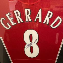 Steven Gerrard Framed Shirt
