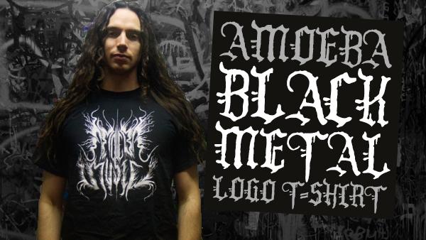Black Metal Amoeba Logo T-Shirt