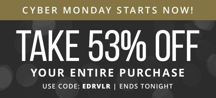 53% Off Sitewide! Use coupon code: EDRVLR