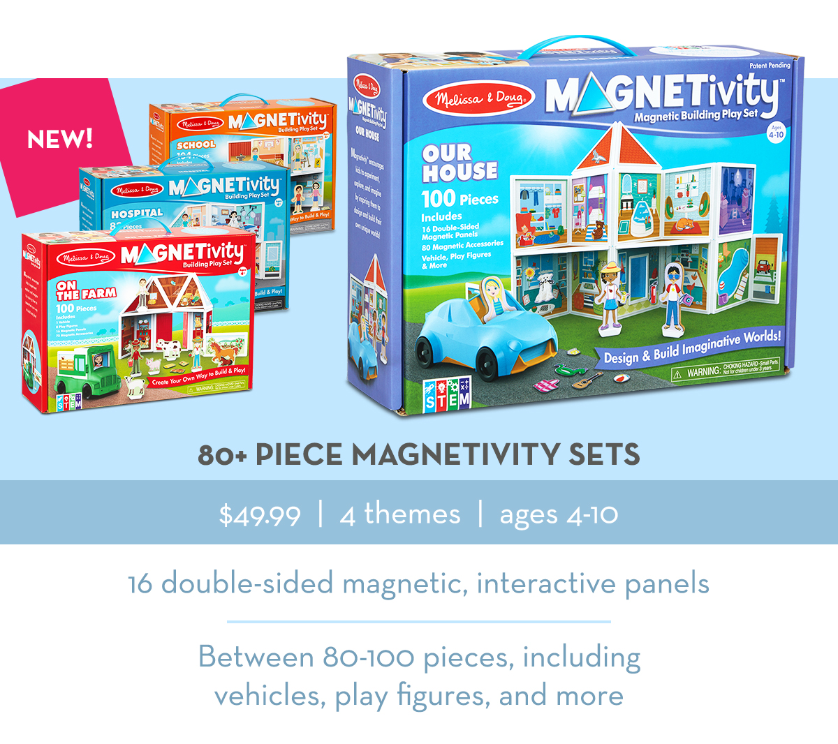80+ Piece Magnetivity Sets