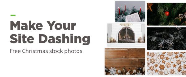 Make your site dashing with free Christmas stock photos