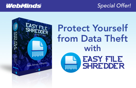 Easy File Shredder #STAYSAFEATHOME Sale:Protect Your Private Datafor Only $9.95