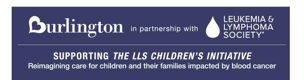 Donate to the Leukemia and Lymphoma Society in partnership with Burlington Stores
