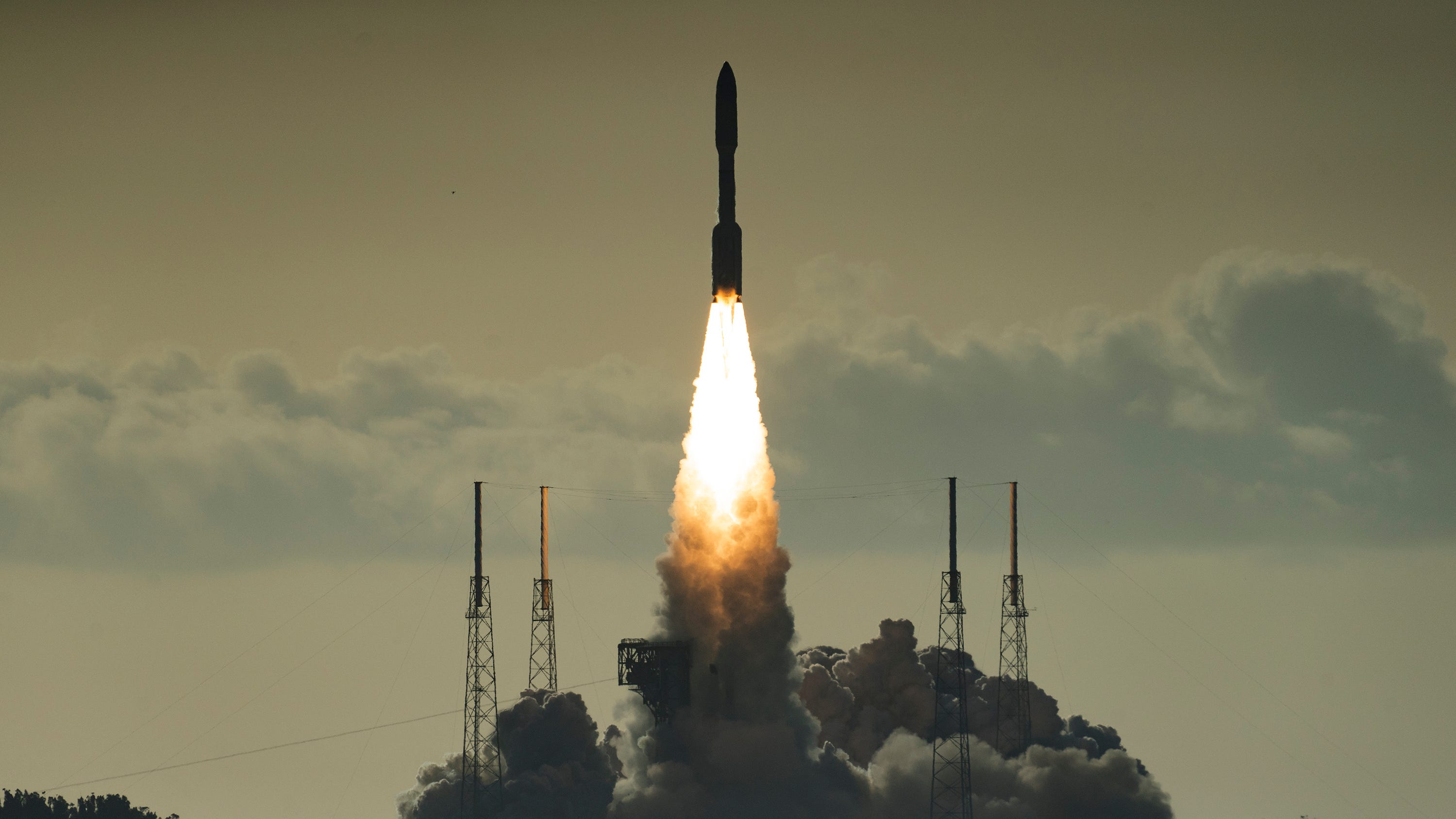 A United Launch Alliance Atlas V rocket launches from Cape Canaveral Air Force Station's Launch Complex 41 on Thursday, July 30, 2020. Onboard was NASA's Mars Perseverance rover, which will arrive at the red planet in about six months.