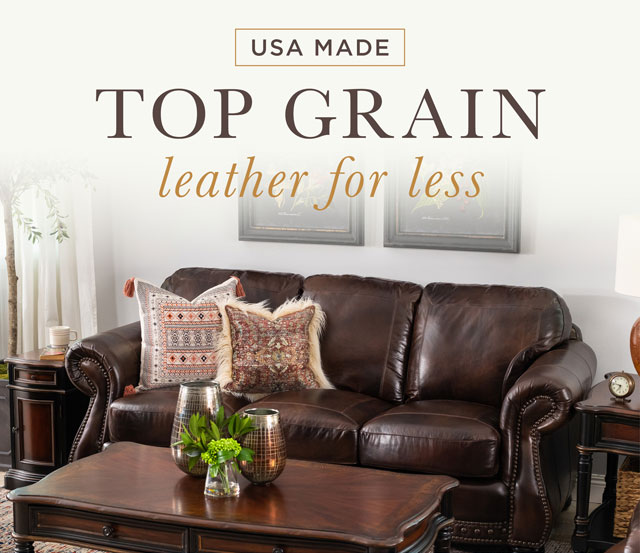 USA Made Top Grain Leather for Less