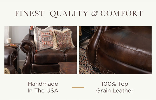 Finest Quality & Comfort: Handmade in the USA, 100% Top Grain Leather