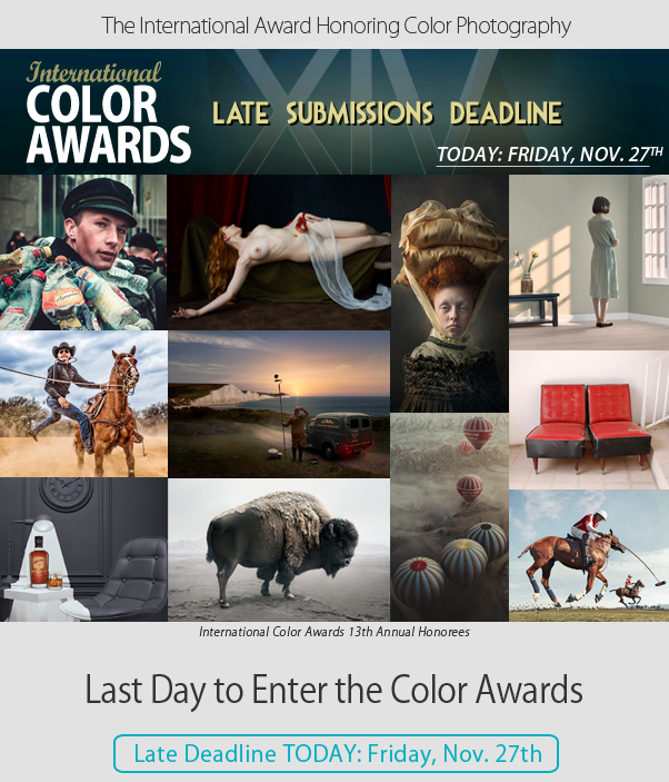 Last Day to Enter the Color Awards - Late Deadline TODAY, Friday, Nov. 27th