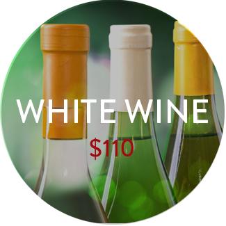 White wine pack - $110