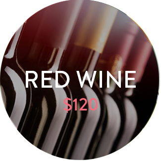 Red wine pack - $120