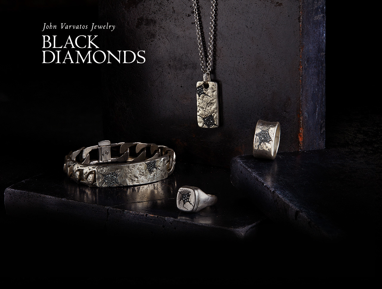 John Varvatos Jewelry - Black Diamonds