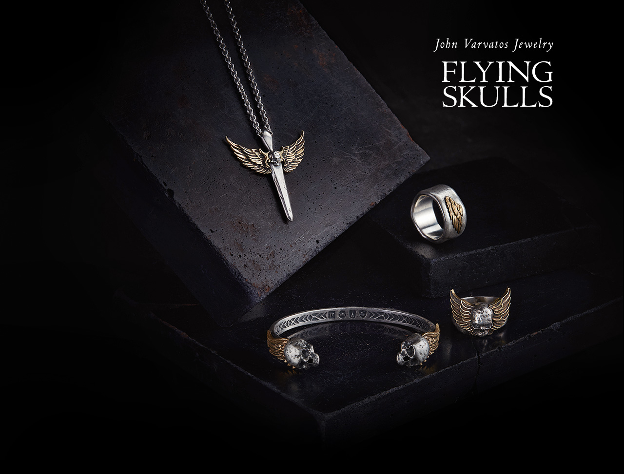 John Varvatos Jewelry - Flying Skulls
