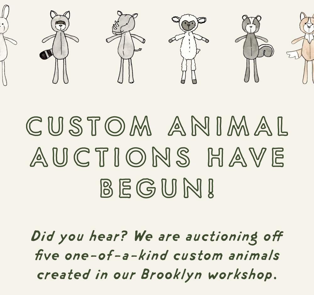 custom animal auctions