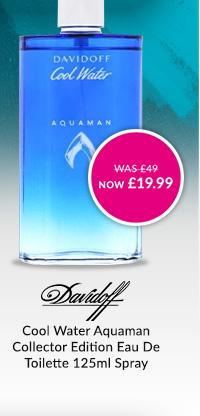 DAVIDOFF Cool Water Aquaman Collector Edition Eau De Toilette 125ml Spray WAS ?49 NOW ?19.99