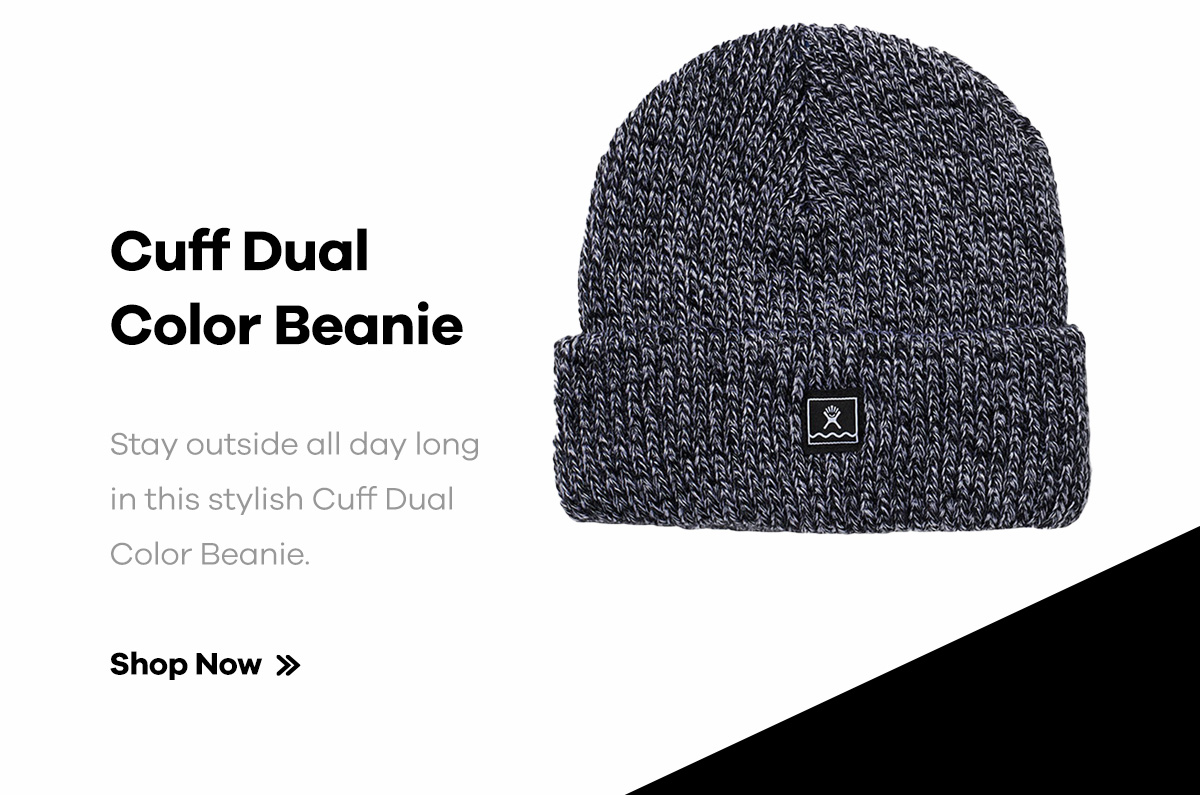 Cuff Dual Color Beanie | Stay outside all day long in this stylish Cuff Dual Color Beanie. | Shop Now >>