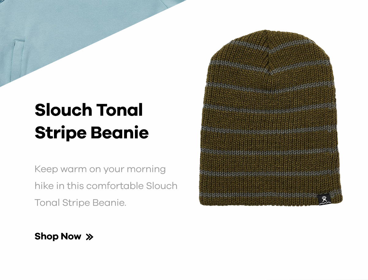 Slouch Tonal Stripe Beanie | Keep warm on your morning hike in this comfortable Slouch Tonal Stripe Beanie. | Shop Now >>