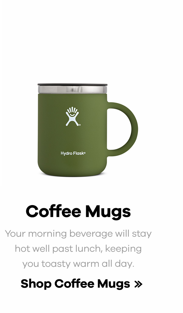 Coffee Mugs | Your morning beverage will stay hot well past lunch, keeping you toasty warm all day. | Shop Coffee Mugs >>