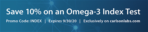 Save 10% on an Omega-3 Index Test with Promo Code INDEX