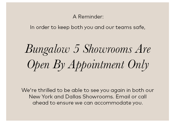 Make your showroom shopping experience appointment today