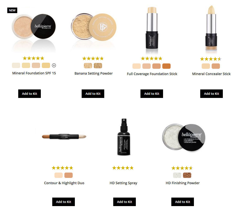Step 1: Choose your FACE product