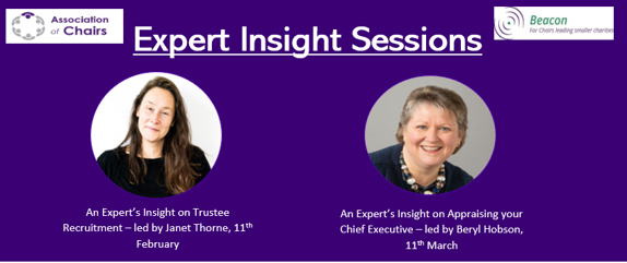 Image of Janet Thorne and Beryl Hobson who will be leading the expert insight sessions