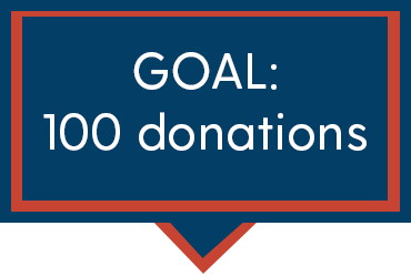 Goal: 100 donations