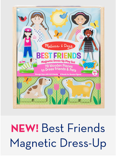 NEW! Best Friends Magntic Dress-Up Set