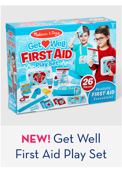 NEW! Get Well First Aid Play Set