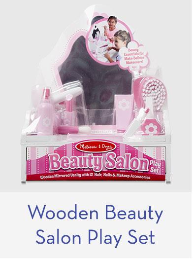 Wooden Beauty Salon Play Set