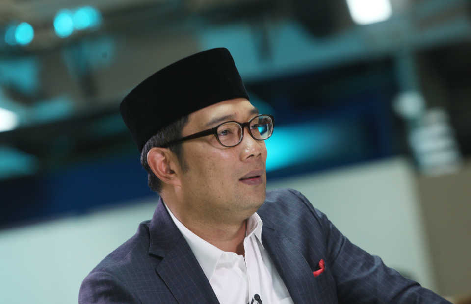 West Java Governor Ridwan Kamil has offered infrastructure projects worth a total of $60 billion to US investors. (B1 Photo/Danung Arifin)