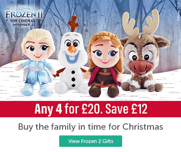 Disney Frozen 2 in Cinemas November 22 Frozen 2 Soft Plush Toys Any 4 for �. Save � Buy the family in time for Christmas View Frozen 2 Gifts