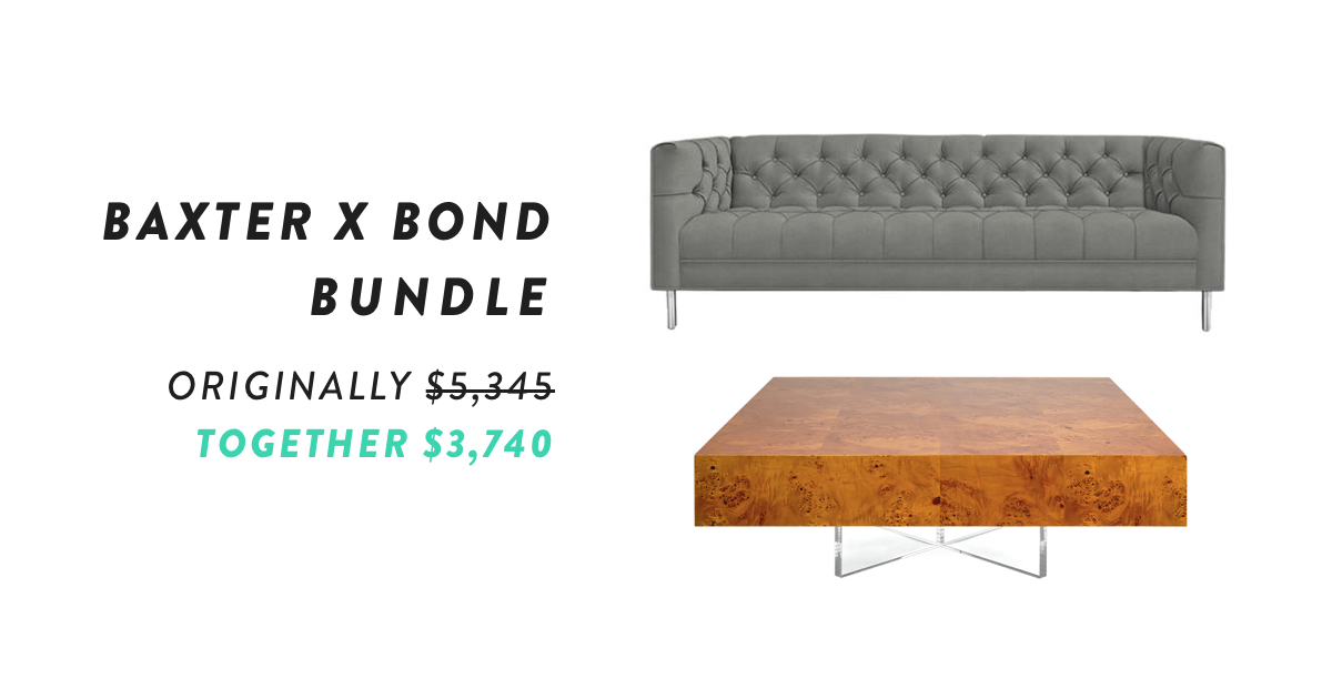 Baxter with Bond Cocktail Table Bundle | Shop Now