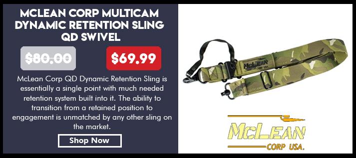 McLean Corp Multicam Dynamic Retention Sling QD Swivel
