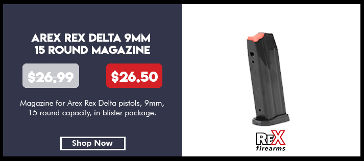 Magazine, for Arex Rex Delta pistols, 9mm, 15 rounds, in blister package
