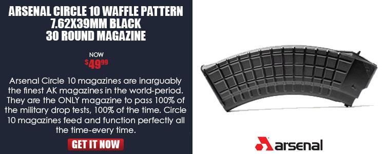 AK47 Magazine 7.62x39 Caliber 30-Round, Circle 10 Waffle Pattern