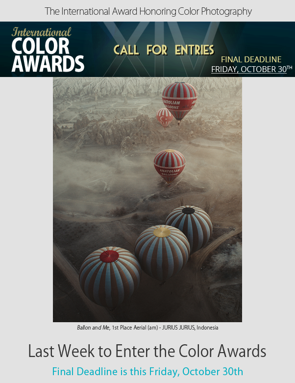 Last Week to Enter the Color Awards - Final Deadline is this Friday, October 30th
