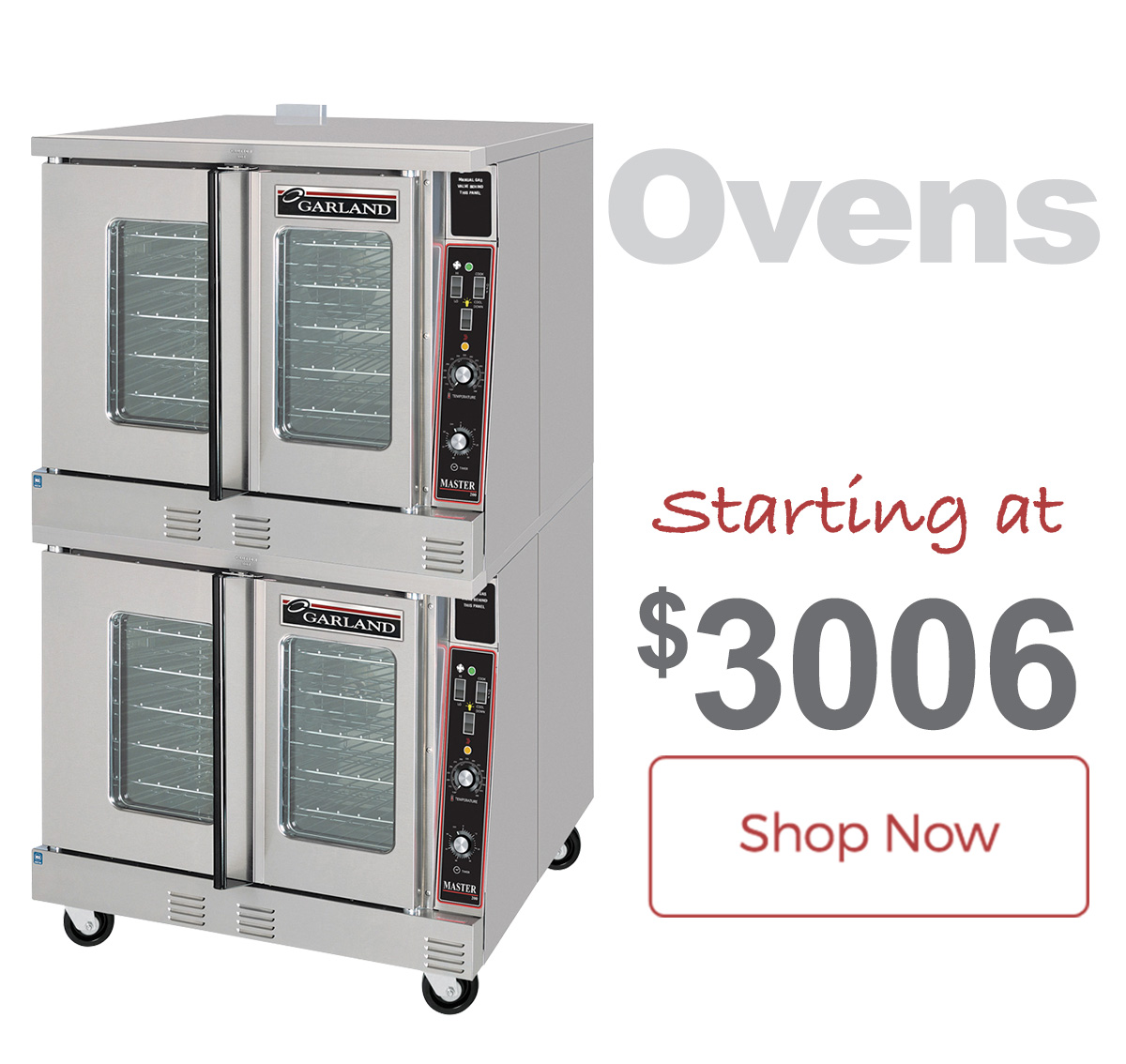 Garland Ovens now with Free Shipping!
