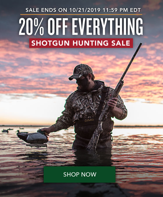 20% OFF Everything - Shotgun Hunting Sale