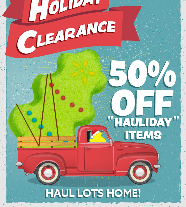 50% Off Holiday Items