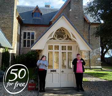 50forFree 2019 Beneficiaries at The Grange in Kent
