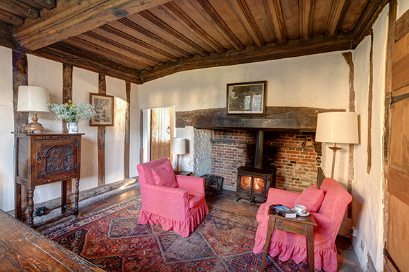 Sitting Room at The Ancient House in Suffolk