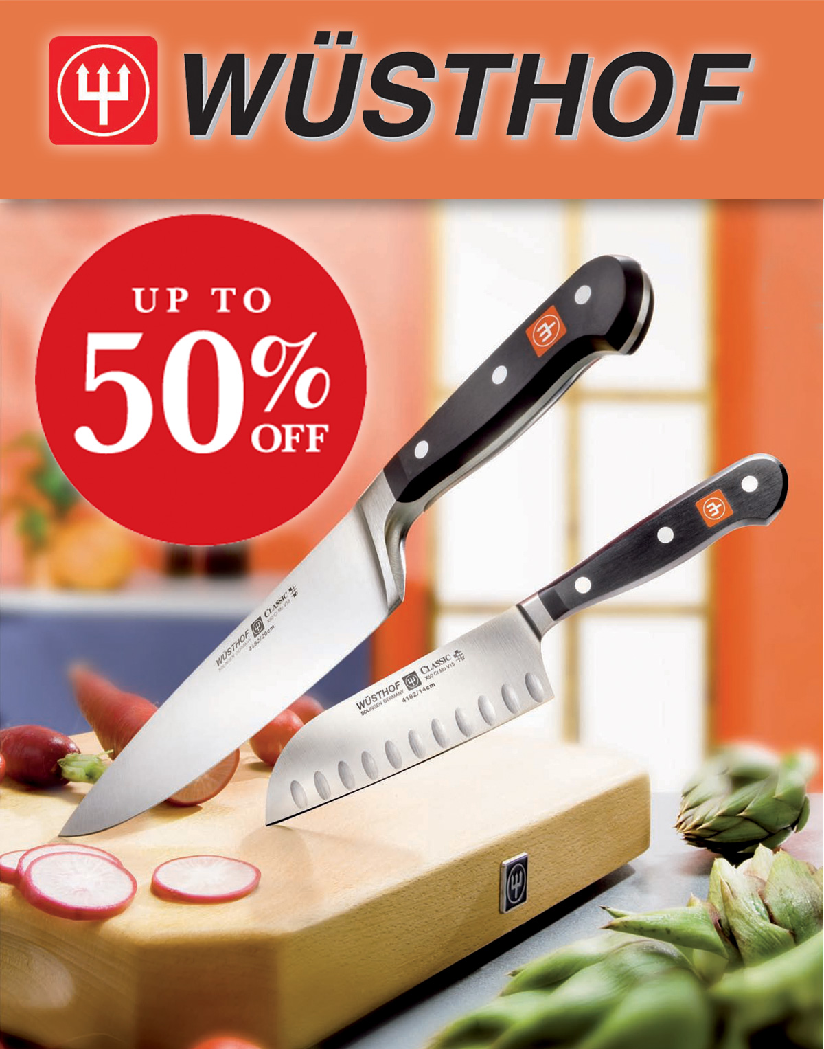 Up to Fifty Percent off Wusthof - Order yours today!