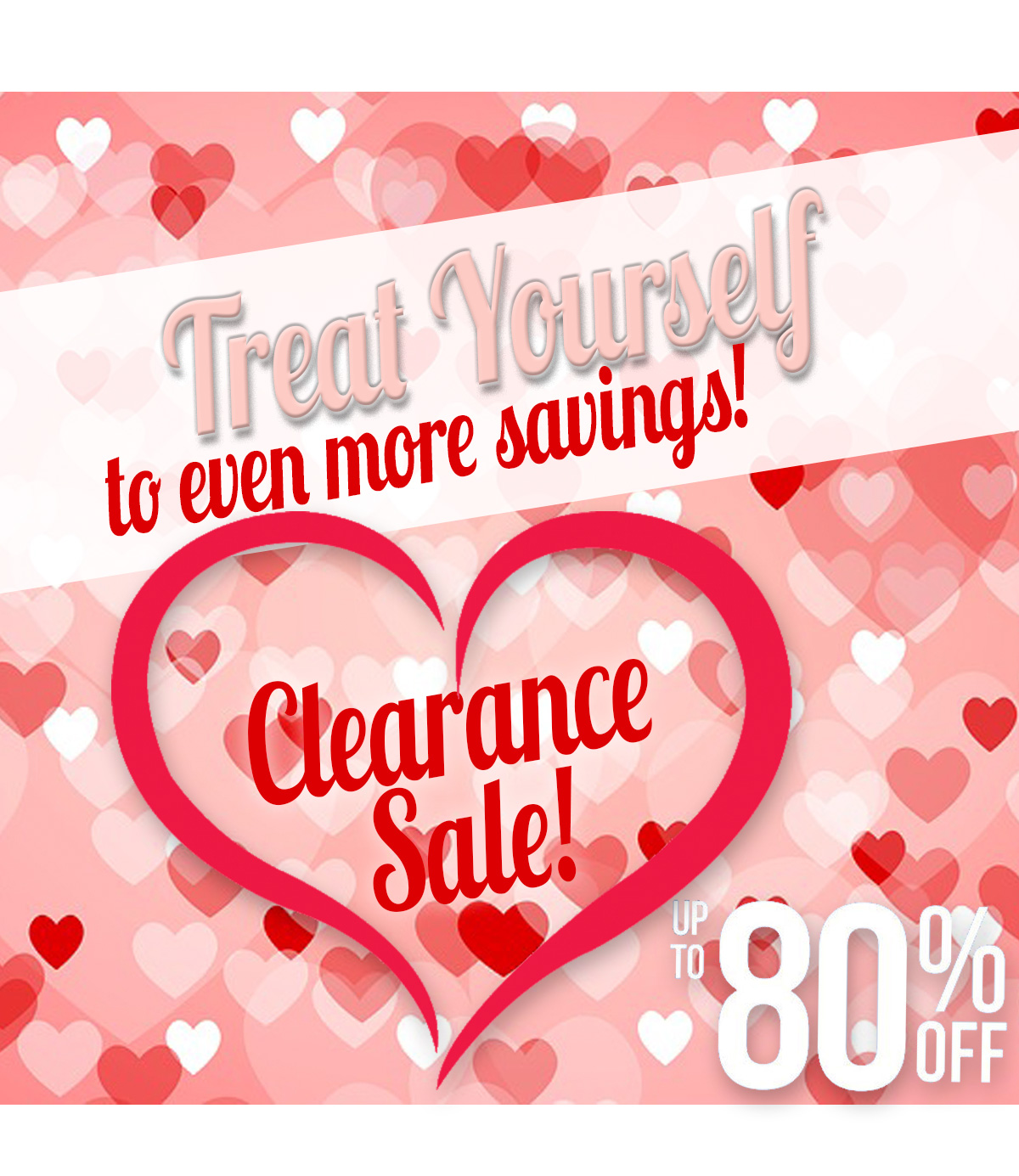 Save even more with our Clearance Items - hurry ---- while supplies last up to 80% off!