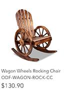 Wagon Wheels Rocking Chair
