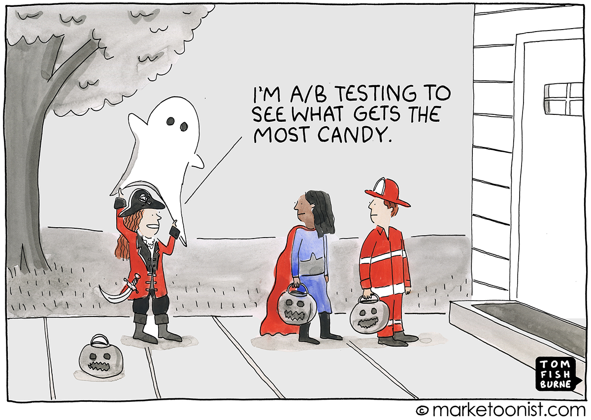 Always Be Testing cartoon